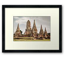 Ayutthaya temple Framed Print