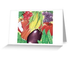 Delicious Vegetables  Greeting Card