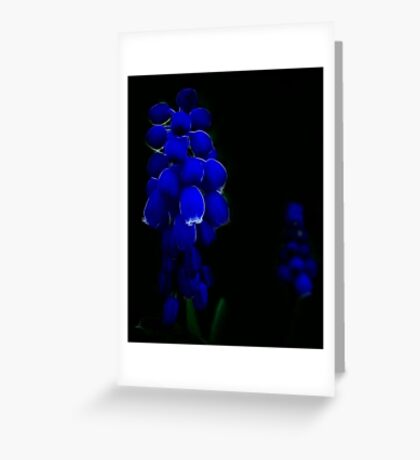 Blue Fractal Renaissance Greeting Card