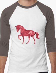Geometric Horse Men's Baseball ¾ T-Shirt