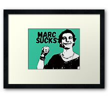 Marc Sucks Empire Records Framed Print