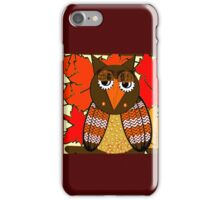 AUTUMN LEAVES AND MR. OWL iPhone Case/Skin