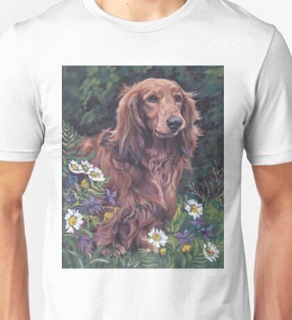 Dachshund Fine Art Painting Unisex T-Shirt