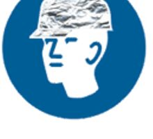Tin foil hat area Sticker
