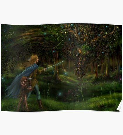 Strange Encounter in the Ancient Forest Poster
