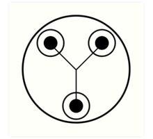 Simple Flux Capacitor Schematic Art Print