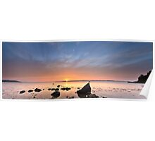 Evening glow (panoramic version) Poster