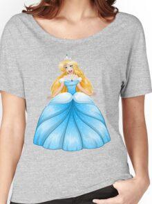 Blond Princess In Blue Dress Women's Relaxed Fit T-Shirt