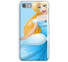 Blond Princess In Blue Dress iPhone Case/Skin