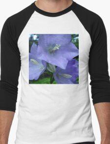 Blue Campanula Macro Men's Baseball ¾ T-Shirt