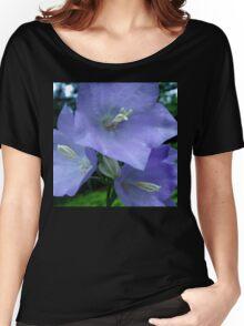 Blue Campanula Macro Women's Relaxed Fit T-Shirt