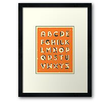 IMPOSSIBLE ALPHABET Framed Print