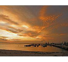 Sunset at Palm Beach Aruba  Photographic Print