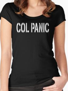 COL PANIC - Punny White on Black Design for Unix/Linux Geeks Women's Fitted Scoop T-Shirt