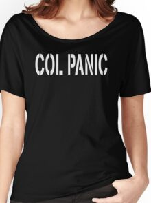 COL PANIC - Punny White on Black Design for Unix/Linux Geeks Women's Relaxed Fit T-Shirt