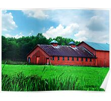 Big Red Horse Barn Poster