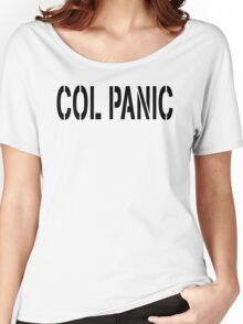 COL PANIC - Punny Black on White Design for Unix/Linux Geeks Women's Relaxed Fit T-Shirt