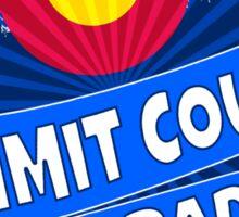 Summit County Colorado flag mountain burst Sticker