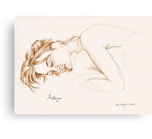 Kathryn asleep Canvas Print
