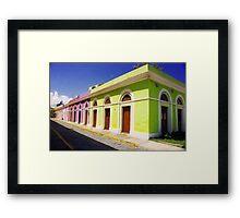 Old San Juan Colours, Puerto Rico Framed Print