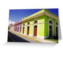 Old San Juan Colours, Puerto Rico Greeting Card