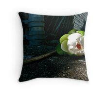 Water Lily on the Wall Throw Pillow