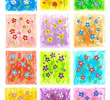 Flower Party - Brush And Gouache by RainbowArt
