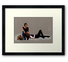 root x shaw Framed Print