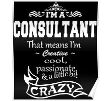 I'M A CONSULTANT THAT MEANS I'M  CREATIVE.. Poster