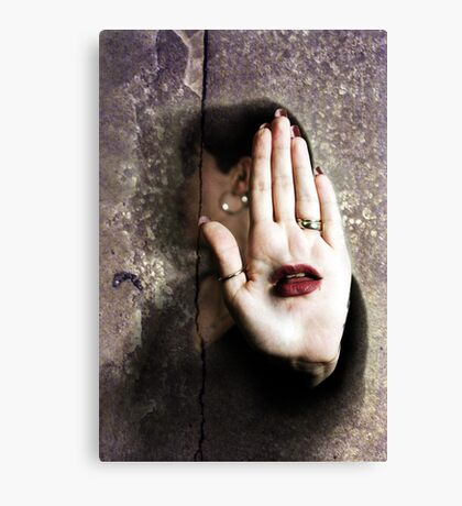 Let Your Hand Do The Talking Canvas Print