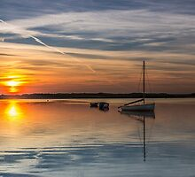 Sunset over the lake by Paul Madden