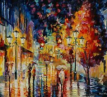 NIGHT SYMPHONY - original oil painting on canvas by Leonid Afremov by Leonid  Afremov