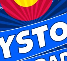 Keystone Colorado flag mountain burst Sticker