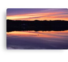 Sunset Swim Canvas Print
