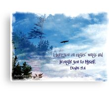 On Eagles' wings Canvas Print