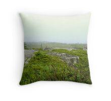 Green Fog Throw Pillow