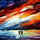 TOUCH OF HORIZON - original oil painting on canvas by Leonid Afremov by Leonid  Afremov