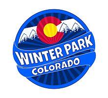 Winter Park Colorado flag mountain burst by artisticattitud