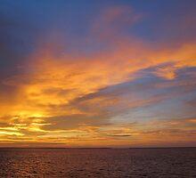 orange sky over derby jetty by nicole makarenco