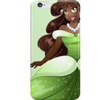 African Princess In Green Dress iPhone Case/Skin
