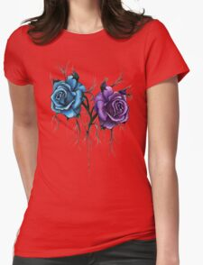 Decaying Tattoo Roses Womens Fitted T-Shirt