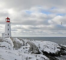 Lighthouse Snow by Justin Cox