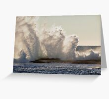 Wave Crash Greeting Card
