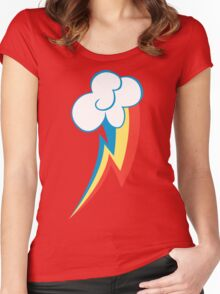 Rainbow Dash Cutie Mark (Large icon) - My Little Pony Friendship is Magic Women's Fitted Scoop T-Shirt