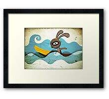 Surfing Waves Swirls Framed Print