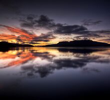Tarawera Dawn Reflection by Michael Treloar
