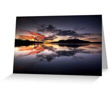 Tarawera Dawn Reflection Greeting Card