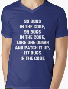 99 Bugs In The Code Mens V-Neck T-Shirt