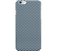 Christmas Midnight Blue & White Micro Chevron iPhone Case/Skin
