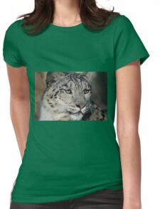 Snow Leopard Uncia Uncia Womens Fitted T-Shirt